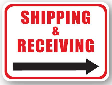 DuraStripe - Rectangular Safety Signs / Shipping & Receiving (Right)