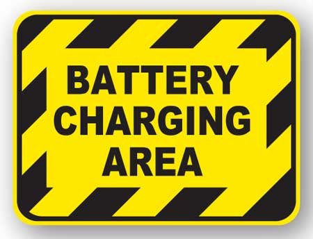 DuraStripe - Rectangular Safety Signs / Battery Charging Area