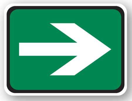DuraStripe - Rectangular Safety Signs / Arrow