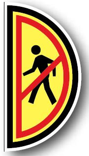 DuraStripe - Side-Stop & Half Signs / Pedestrians Left