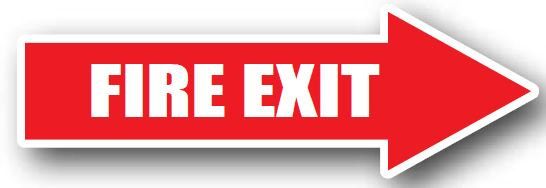 DuraStripe - Directional Signs / Fire Exit Right