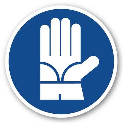 DuraStripe - Circular Safety Signs / Safety Gloves Required
