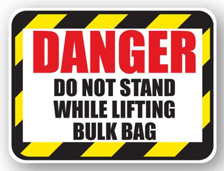 DuraStripe - Rectangular Safety Signs / Danger Do Not Stand While Lifting