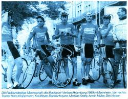 Die Radbundesliga-Mannschaft ...