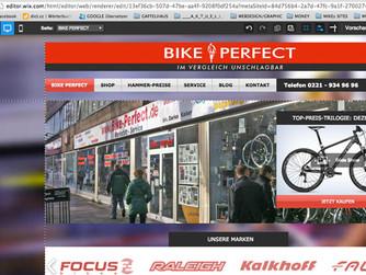 Auf dem Weg zur neuen Website für BIKE PERFECT