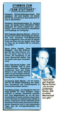 Stimmen zum Team Stuttgart...