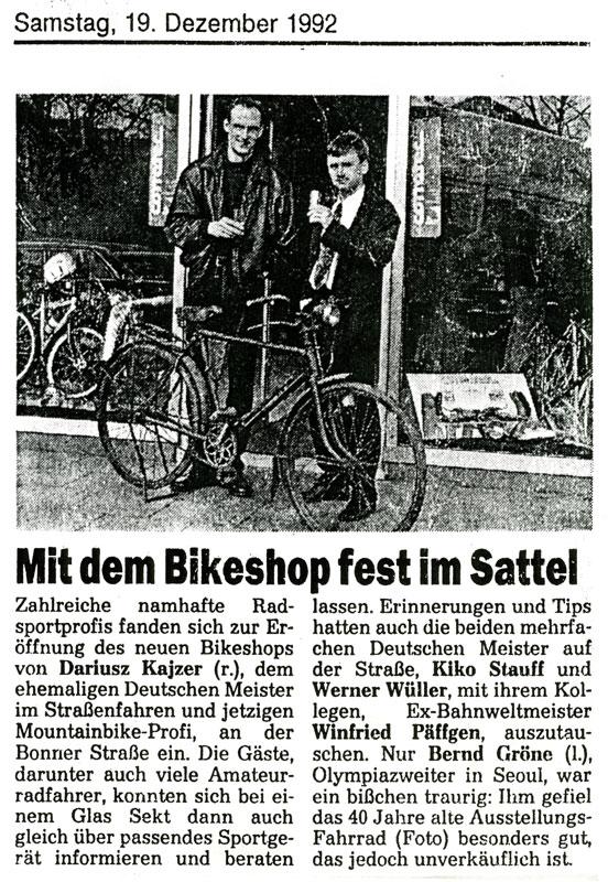 Mit dem Bikeshop fest im Sattel