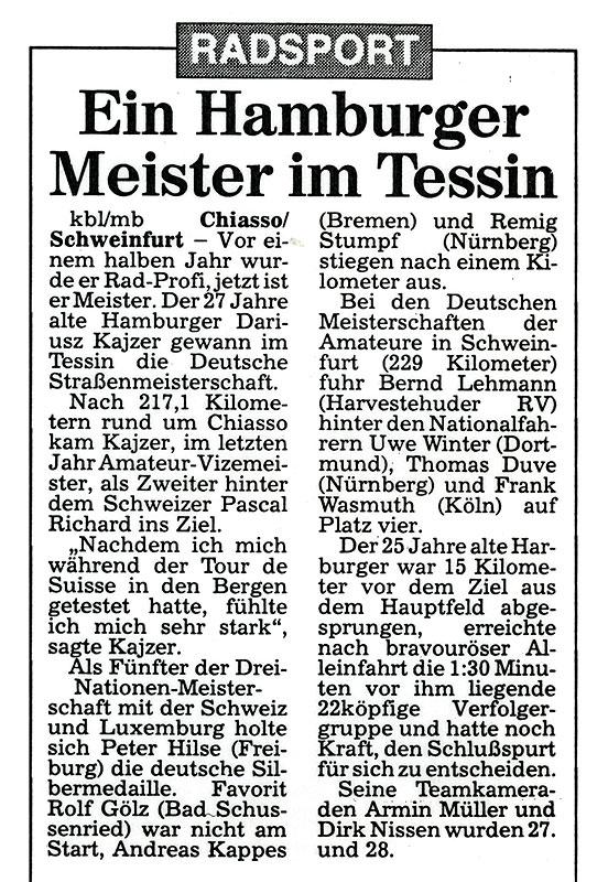 Ein Hamburger Meister im Tessin