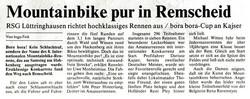 Mountainbike pur in Remscheid.