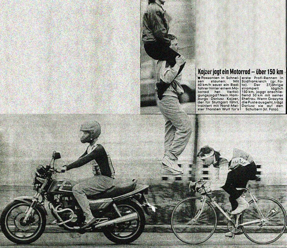 Kaiser jagt ein Motorrad ...