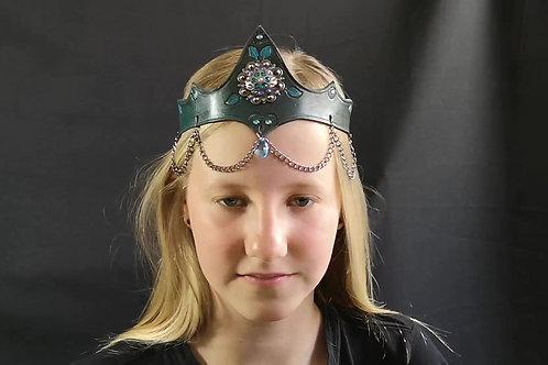 Blauwgroene Unisex kroon