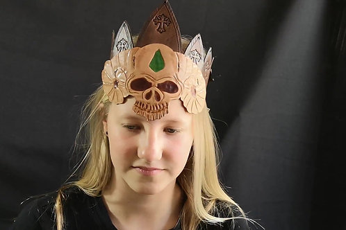 Mahoniebruine Unisex kroon