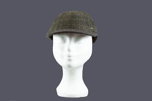 Geruite Wegener cap met oorlappen