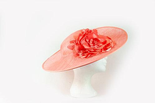mooie ovale schotel met zijde bloem