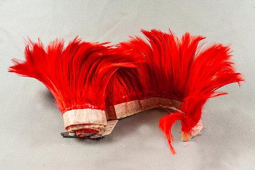 Rode volle band metrode veren 10 cm hoog