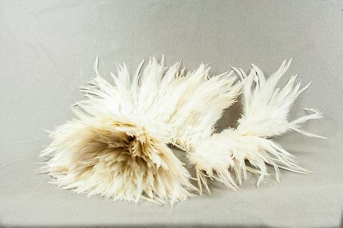 lint van veren wit 9 cm hoog