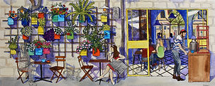 Shuk Cafe with Flowers