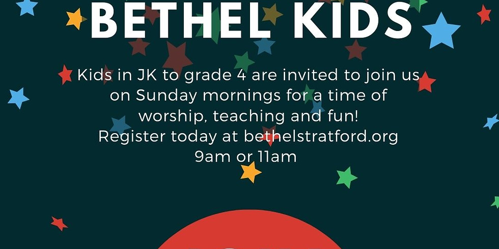 Bethel Kids - Sunday, April 18th - 11AM
