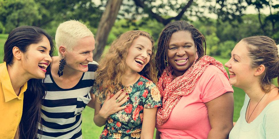group-of-women-socialize-teamwork-happin