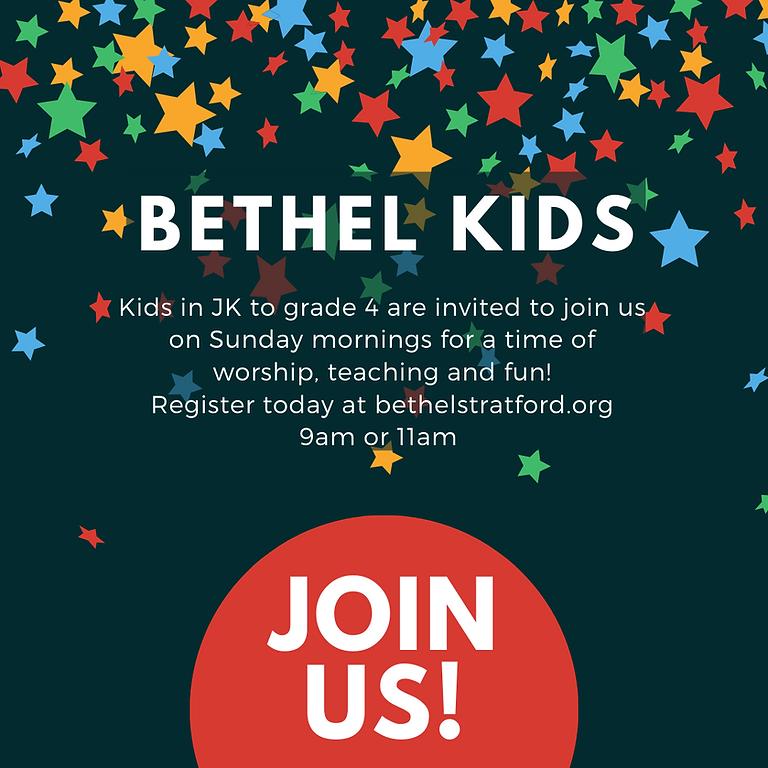 Bethel Kids - Sunday, August 8th - 9AM