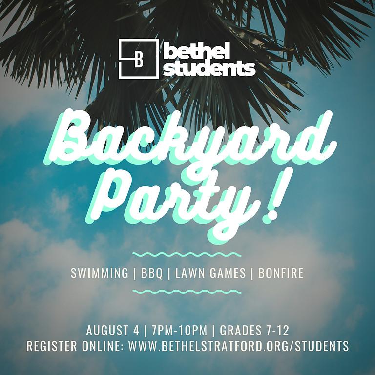Bethel Student's Backyard Party!