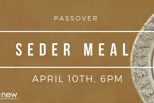 Adult Meal for Passover Seder