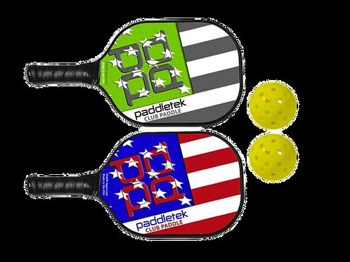 Paddletek Bundle Set - (2) Paddles (2) Balls