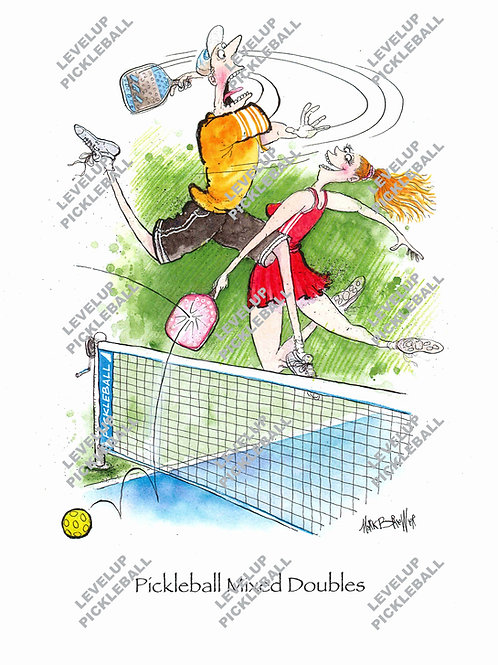 Pickleball Mixed Doubles Print