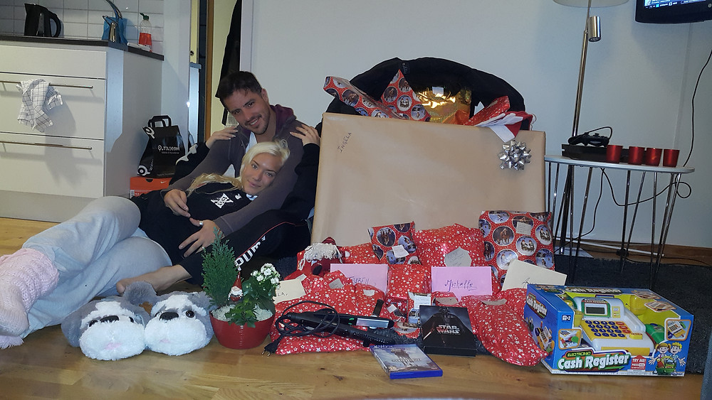 This is Christmas 2 years ago & that was the most stressful Christmas preparing all these presents! But also a lovely one as well
