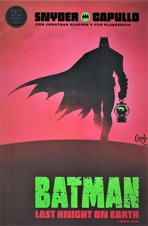 BATMAN LAST KNIGHT ON EARTH LIBRO UNO
