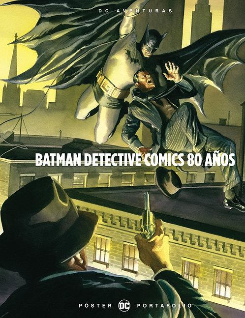 BATMAN DETECTIVE COMICS 80 AÑOS POSTER