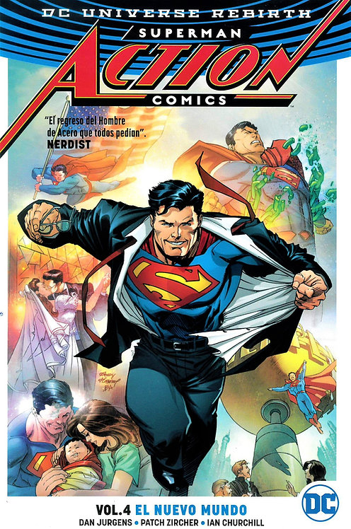 SUPERMAN ACTION COMICS VOL. 4 EL NUEVO MUNDO