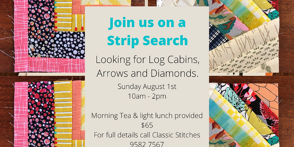 Strip Search- looking for log cabins, arrows & diamonds