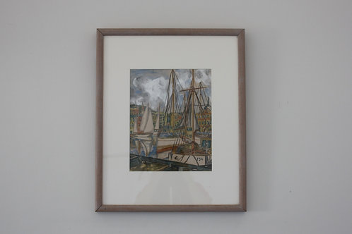 BOATS IN HARBOUR / UNKNOWN