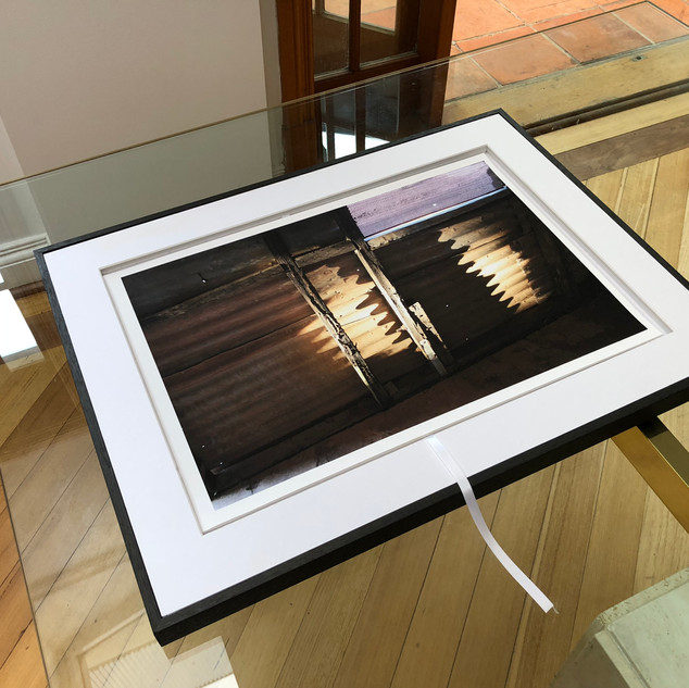 The perspex lid removes easily to access the images. Works can be framed seperately or left in the box as an art object. Print size 320 x 480mm.