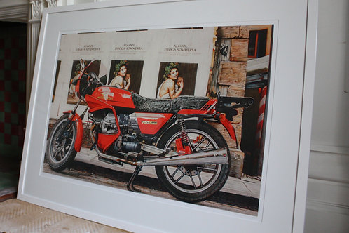 MOTOR GUZZI WITH CARRAVAGIO /ASHLEY JONES