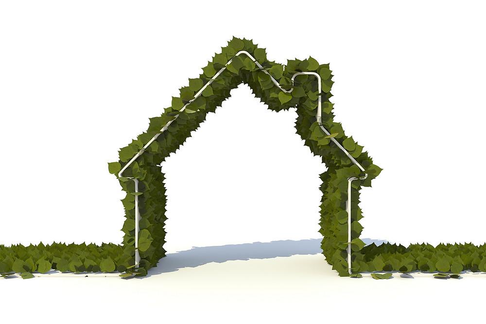 arquitetura sustentável e telhado verde