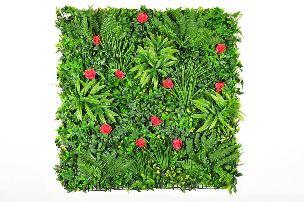 Placa de vegetação com samambaia artificial exclusivo para uso externo.