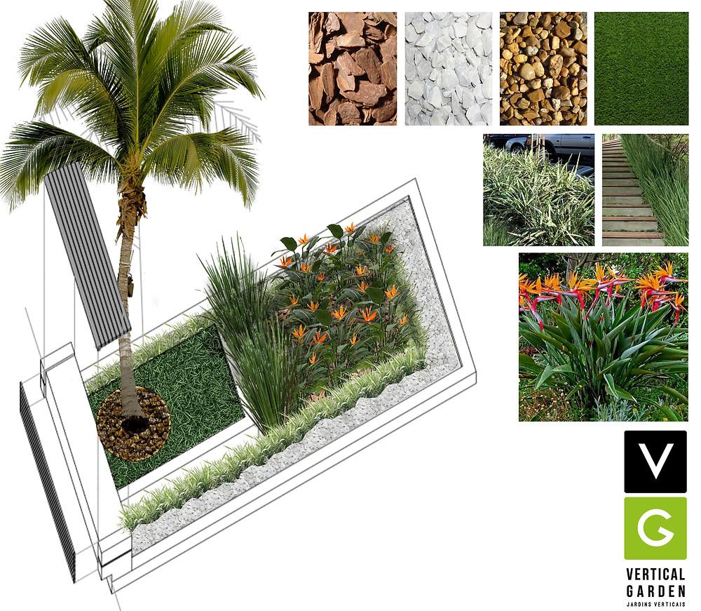vegetações em ambiente coporativo