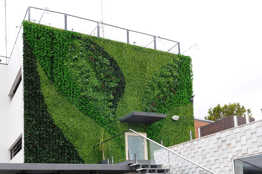 jardim vertical permanente externo fachada cobertura