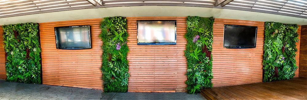 Detalhe Jardim Vertical Artificial