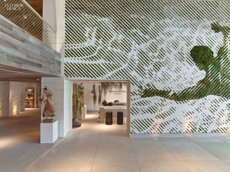 Decoração de Hotel com Musgo Moss Wall