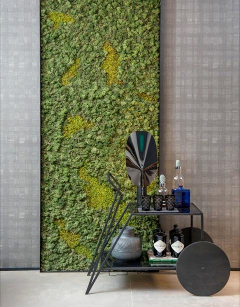 Ideia de Decoração Painel de Musgo Moss
