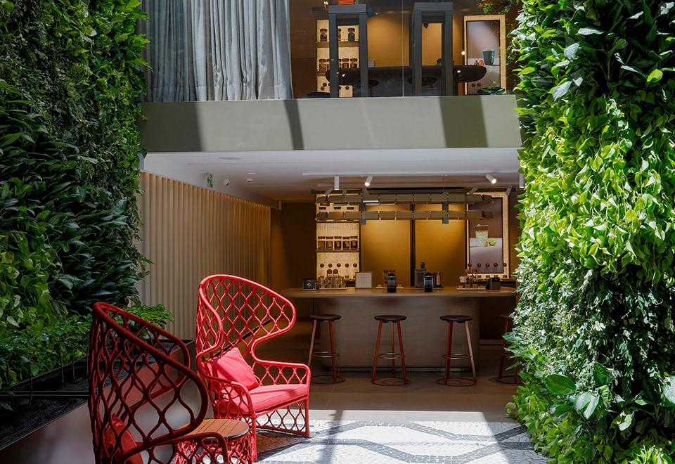 Jardim Vertical Interior de Loja