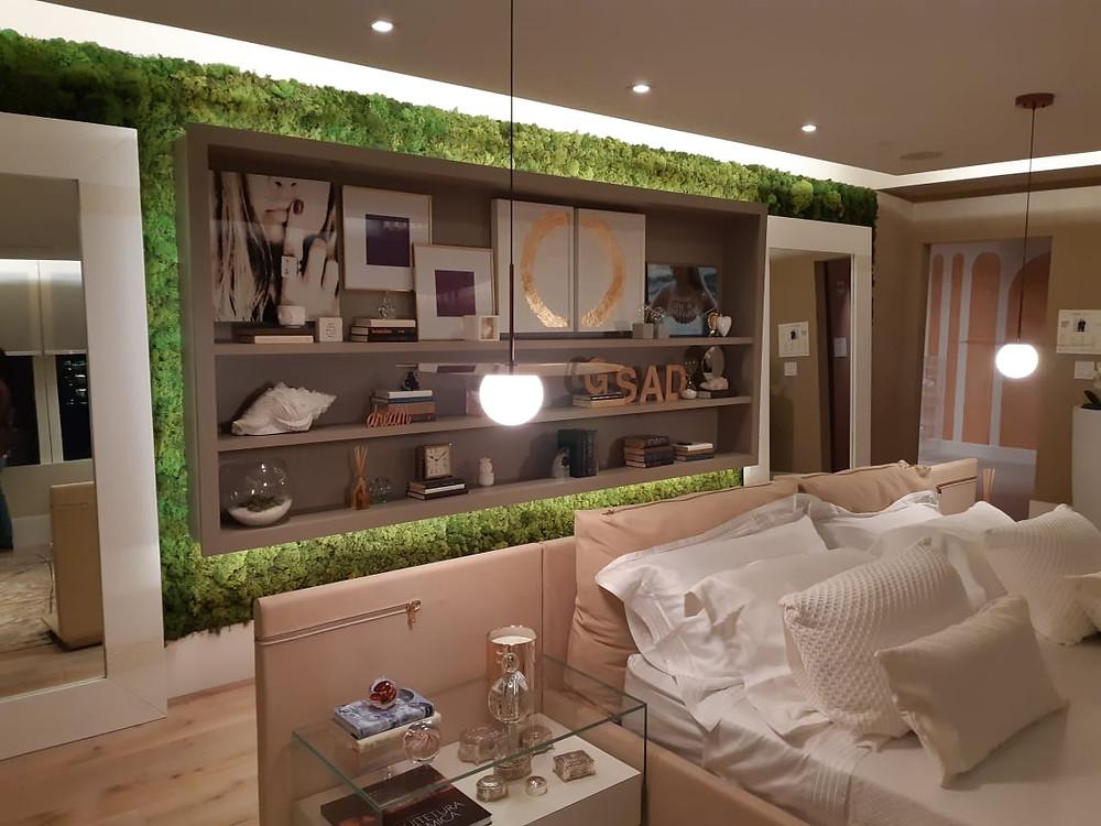 Parede Verde de Musgo Moss implantada pela Vertical Garden Miami