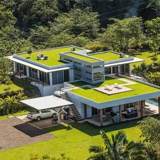 Casa Sustentável com Telhado Verde
