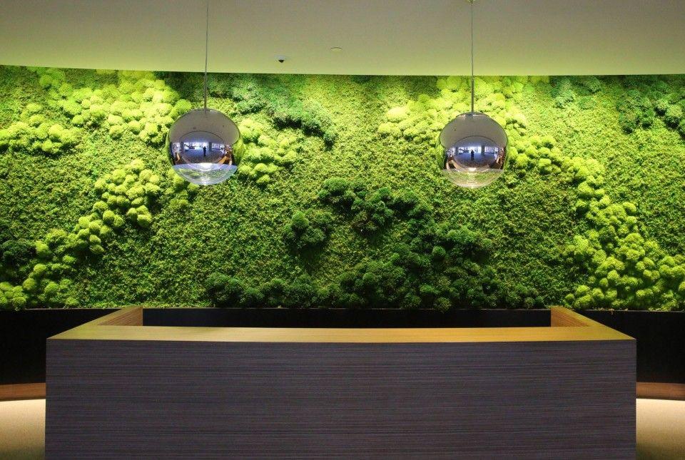 Arquitetura de Hotel com Musgo Moss