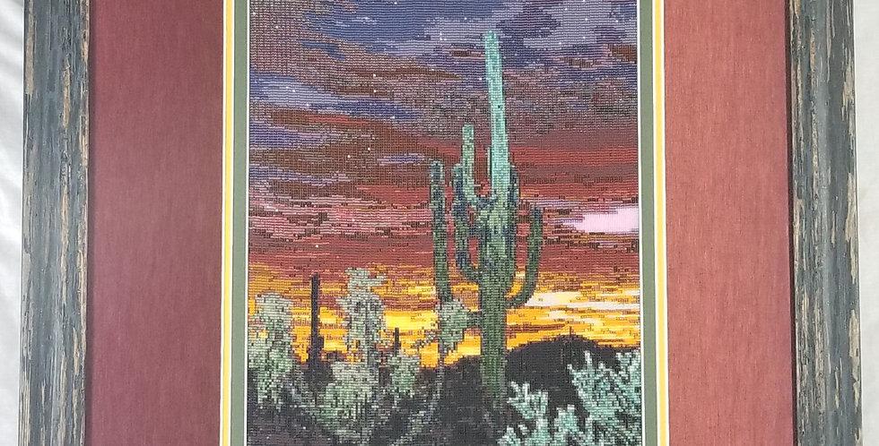 Desert Sunset Beaded Tapestry 2018