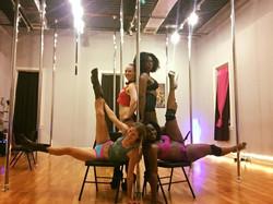 Impulse Pole Dance Students