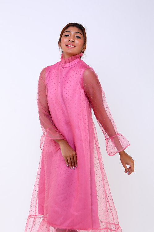 Tamara Pink Turtle neck dress